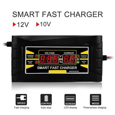 Car Battery Charger Full Automatic 110V/220V To 12V 6A 10A Smart Fast Power S8A3