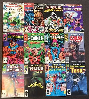 What If? #36,37,38,38,40,41,42,43,44,45,46,47 Conan Hulk Thor 1982 Series 1 Lot
