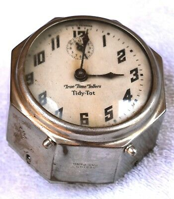 Antique New Have True Time Tellers Tidy Tote Wind-Up Alarm Clock