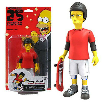 Tony Hawk The Simpsons 25 of the Greatest Guest Stars Series 2 Action Figure NIB