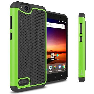 For ZTE Blade Vantage / Tempo X Case - Green Rugged Skin Shockproof Phone Cover