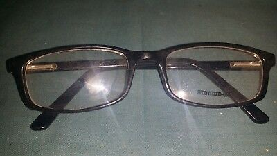 Rochester Optical Romco-5A Black Frame Spectacle Eyeglasses 50 18 135 Optometry