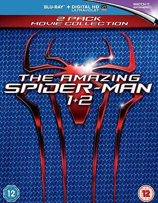 The Amazing Spider-Man 1&2 Blu-Ray Two Movie Collection Set BRAND NEW Free Ship