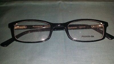 Rochester Optical Romco-5A Black Frame Spectacle Eyeglasses 50 22 150 Optometry