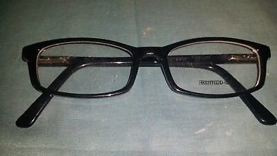 Rochester Optical Romco-5A Black Frame Spectacle Eyeglasses 48 16 135 Optometry