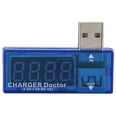 Portable USB Power Mini Detector Current & Voltage Tester Blue Quality Tester US