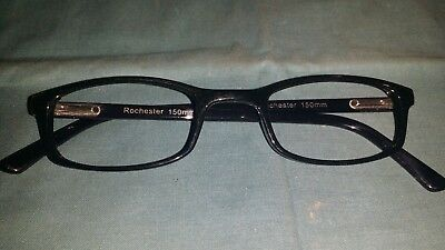 Rochester Optical Romco-5A Black Frame Spectacle Eyeglasses 50 24 150 Optometry