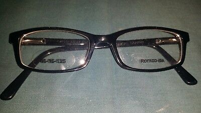 Rochester Optical Romco-5A Black Frame Spectacle Eyeglasses 46 16 135 Optometry