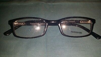 Rochester Optical Romco-5A Black Frame Spectacle Eyeglasses 48 22 145 Optometry