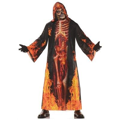 grim reaper costume adult scary skeleton robe halloween fancy dress