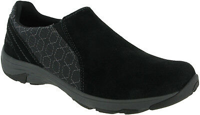 Merrell Ryeland Moc Womens Slip On Black Casual Suede Walking Hiking Shoes
