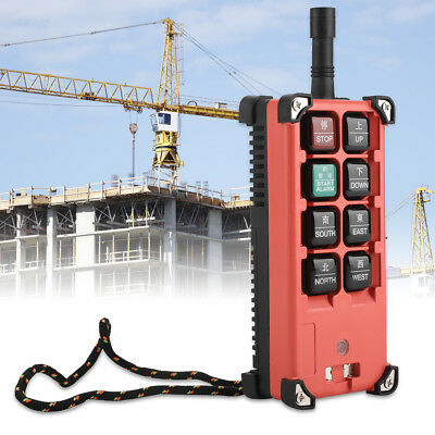 8 Key Heavy Duty Crane Industrial Wireless Remote Control Transmitter Kit HighQ
