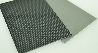 ABS Plastic Sheet Carbon Fibre Effect 3mm A4, A3 Model Car Trim Plastic Vac Form