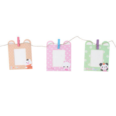 10Pieces Clip Wall Hanging Frame for INSTAX MINI Photos with Pegs and Twine