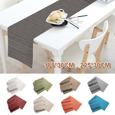 PVC Fabric Round WIPE CLEAN Tablecloth Non-slip Mat Bamboo Woven Tablecloth