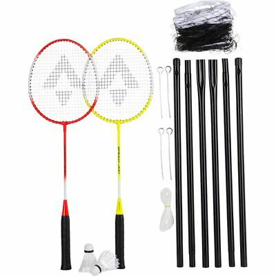 TECNOPRO Badmintonset Speed 200 2 Play. Net Set Badminton Federball rot,gelb