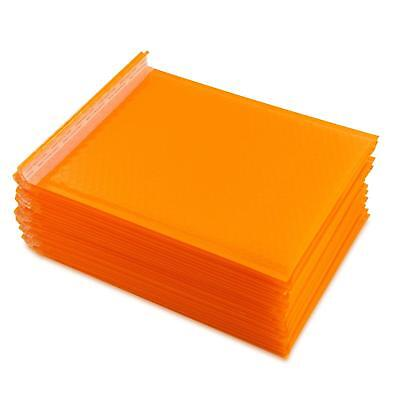 Yomuse 25 Pcs Packaging Padded Bubble Plastic Mailers 260mm x 320mm 40mm Orange