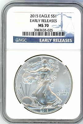 2015 American Silver Eagle 1 oz Early Releases NGC MS70 CA011