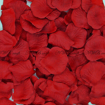 100-1000 Deep Red Rose Petals Engagement Wedding Celebration Table Aisle Décor