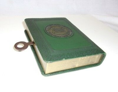 1950's Bankers Utilities Co. Bank Book w/ Key Two Rivers Bank 10000 FDIC Wi   T*