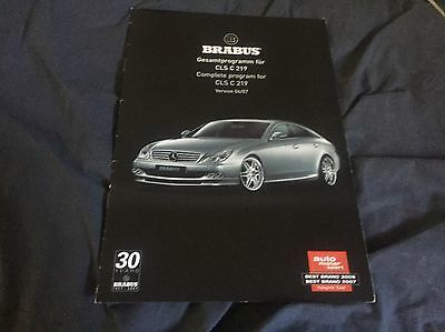 2008 Mercedes Benz Brabus CLS Class Original Color Brochure Prospekt Market