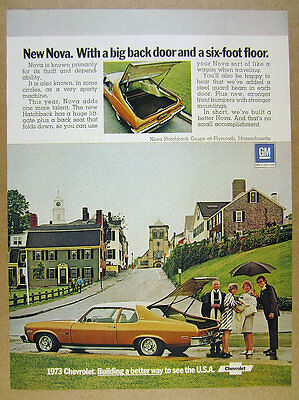 1973 Chevrolet Chevy NOVA Hatchback Coupe color photo vintage print Ad