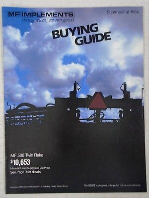 Advertising Brochure Catalog 1984 MF Massey Ferguson Implements Bailer Plow +++