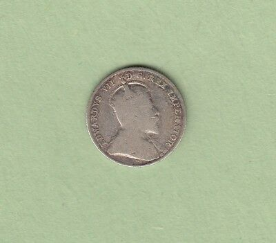 1908 Canadian 10 Cents Silver Coin - Good