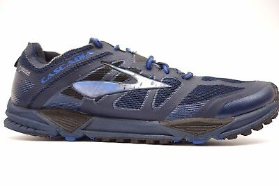 5b76d8a3347e6 Brooks Mens Cascadia 11 GTX Blue Mesh Running Athletic Trail Shoes Size 10.5