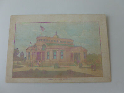 "1876 Philadelphia Exposition Color Litho Card Indiana State Bldg. (6"" x 4"")"