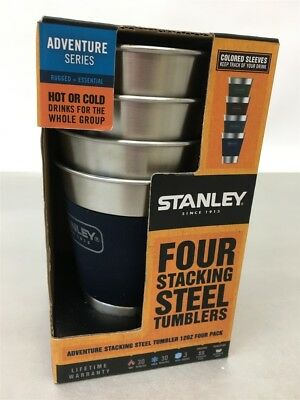 Pack of 4 Stanley Adventure Stacking Steel Tumbler 12 oz, 10-08190-001