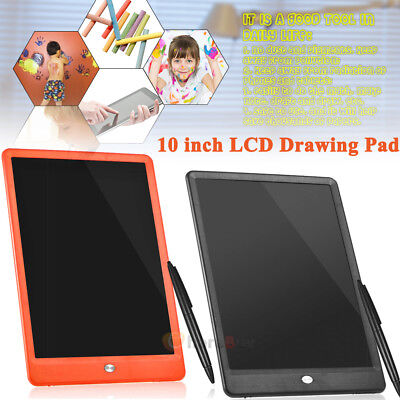 10'' inch Digital LCD Writing Drawing Tablet Pad EWriter Boards Notepad Stylus