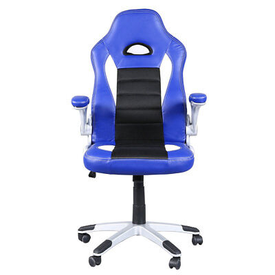 PU Leather Ergonomic Racing Bucket Chair Gaming Office Computer Desk Seat