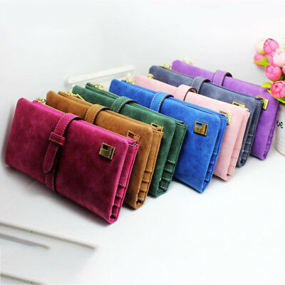 Women Clutch Bag Ladies Long Zip Wallet Credit Holder Card Purse PU Handbag Hot