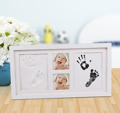 Baby 2D&3D Photo Frame Hand and Foot Print Kit  Newborn Unique Keepsake Gifts