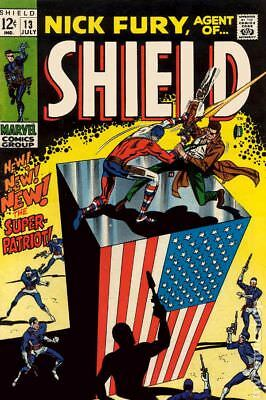 Nick Fury Agent of SHIELD (1st Series) #13 1969 VG 4.0 Stock Image Low Grade