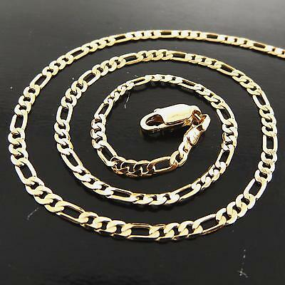 Necklace Pendant Chain Genuine Real 18K Yellow Gold Filled Classic Antique Link