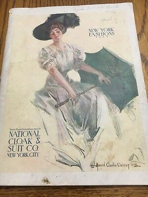 Vintage Mail order Catalog National Cloak and Suit co New York Fashions 1909.