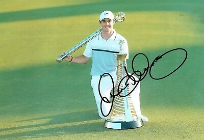 Rory McILROY SIGNED AUTOGRAPH 12x8 Photo 4 AFTAL COA European Golf Ryder Cup