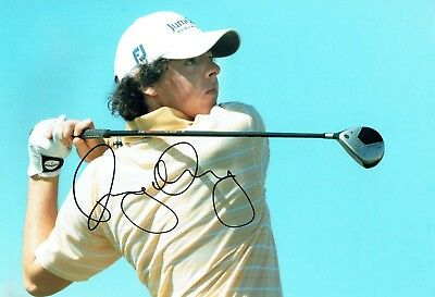 Rory McILROY SIGNED AUTOGRAPH 12x8 Photo 7 AFTAL COA European Golf Ryder Cup