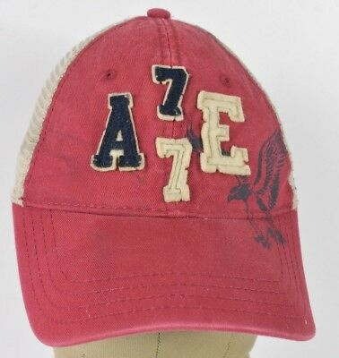 Red American Eagle Outfitters AE Embroidered Trucker Hat Cap Adjustable  Snapback 7db098759beb