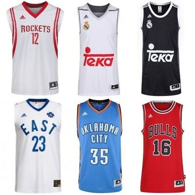 Adidas Basketball Trikots Replikat Swingman NBA Bulls Thunder Real Madrid