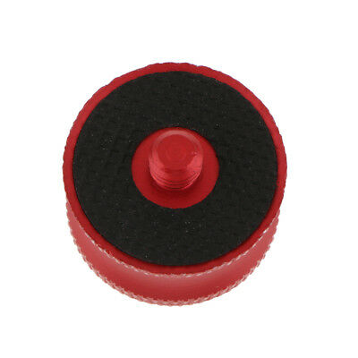 """1/4""""-3/8"""" Male to Female Screw Adapter Convert Plate for Tripod Camera Red"""