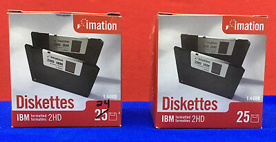 "Imation Ibm Diskettes 1.44Mb/mo 3.5"" Ds Hd 2 Packs - Total Of 49 Disks"