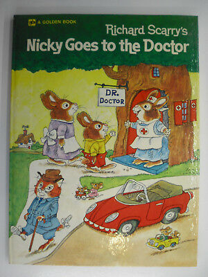 Nicky Goes to the Doctor, Richard Scarry, Big Golden Book, 1972
