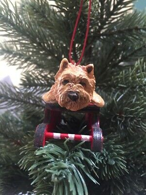 Norwich  Terrier Hand Sculpted And Sled By  Darci