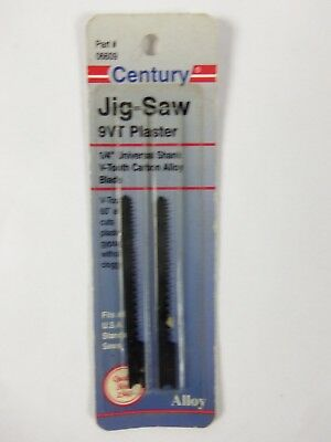 Century Drill and Tool 6609 Universal Shank Carbon Alloy Jig Saw Blade, 9VT 2pk