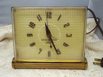 Vintage General Electric Telechron Electric Alarm Clock Working!