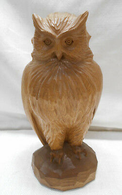 Ainu OWL Hand Carved Wooden Traditional Japanese Vintage #2