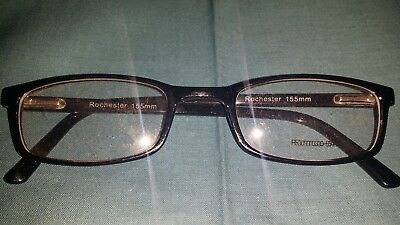 Rochester Optical Romco-5A Black Eyeglass Frame Spectacle 54 24 155 Optometry